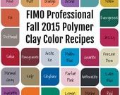 FIMO Professional Fall 2015 Polymer Clay Color Recipe Ebook