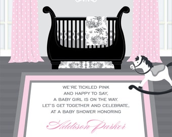 French Toile Baby Shower