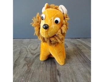 Made in Japan Gold Plush Lion - Vintage Toy