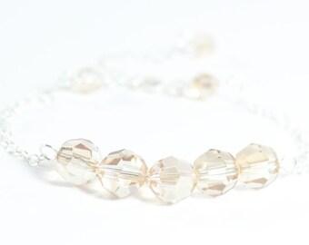Champagne Bridesmaids Bracelets, Bridal, Light Brown, Golden, Wedding, Champagne Weddings, Light Gold Bridesmaids