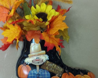 Scarecrow in the Pumpkins Roller Skate Decorative Painting E-Pattern