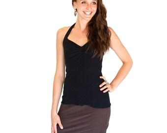 Dance Yoga coverup mini skirt - TULIP MINI - crossover front, festival clothing dance wear, beach coverup