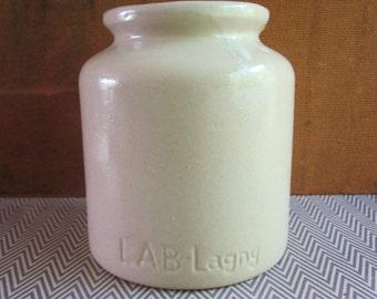 Vintage Lab Lagny French Stoneware Mustard Crock