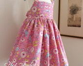 Girls Toddler Dress, Lovebirds, Size 3T, last one, ready to ship