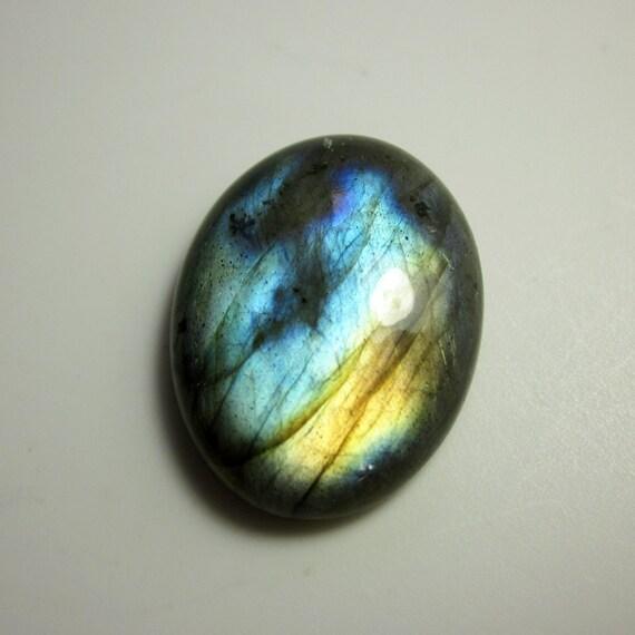 rainbow labradorite gemstone cabochon no 613