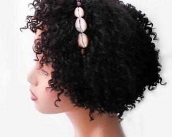 Headband, Natural Hair Headband, Hair Accessories, Hair Jewelry, Natural Hair, Hair Decor, Afropunk, Ocean Goddess Headband