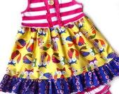 6/7 Fox swing top & shorts Plain tank. SALE Pink Momi boutique