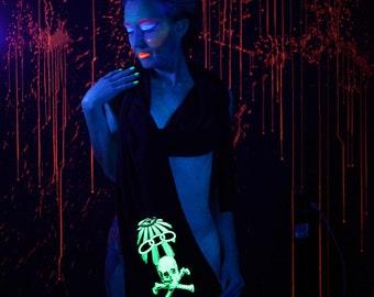 Odd Fellows Glow in the Dark screenprint jersey scarf