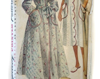 Simplicity 4005 Vintage Pattern 1960's - 70's Mother & Daughter Robes