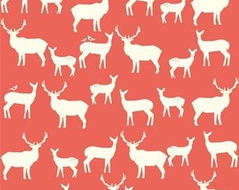 Birch Elk Family Coral Organic Cotton