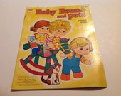 Vintage New1978 Baby Beans and Pets Paper Doll Book #1950