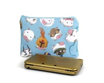 League of Legends Poro 3DS XL Case / Poro Dress Up 3DS Pouch / Zipper Pouch Padded