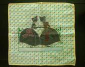 Vintage Applique Pillow Case Sunbonnet Girls Flour Sack Fabric