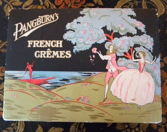 Vintage Candy Box 1920's Pangburn's French Cremes Chocolate