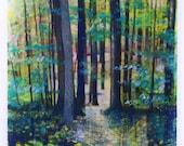 Tall trees, Autumn pathway, art, nature photography, hiking trails, Fall decor, tree art, Signore, Cabin decor, home decor, nature decor