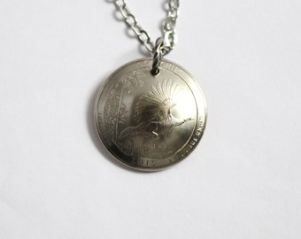 U.S. Quarter Necklace, Domed Coin Pendant, Kisatchie National Forest, Louisiana, America the Beautiful, 2015 Jewelry Hendywood