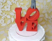 love wedding cake topper with cats
