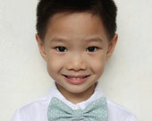 Baby Blue Clip-On Bow Tie