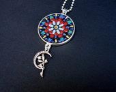 Gypsy Mandala Boho Handmade Art Pendant