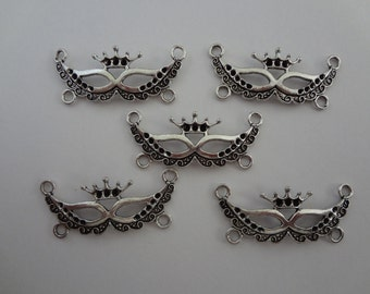 5 - IMPERIAL CROWN MASK Charm Connectors