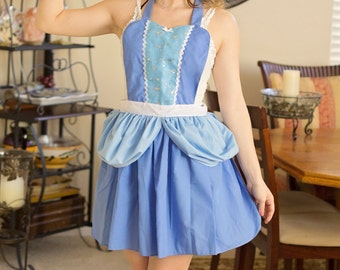 CINDERELLA APRON  Princess dress up style  apron womens full Apron from Lover Dovers cosplay