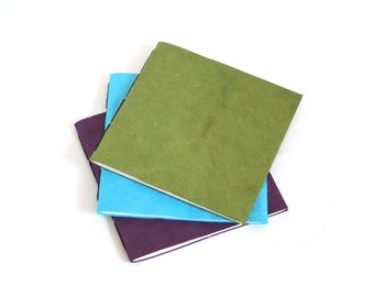 Notebook Set - Three Jotter Notebooks - Olive, Teal, Orchid
