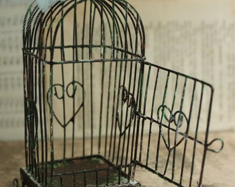 Arch Style Weathered Wire Bird Cage - Wedding Ornament DIY Bird cage Decoration Centerpiece - Wire Birdcage Holiday Dipslay