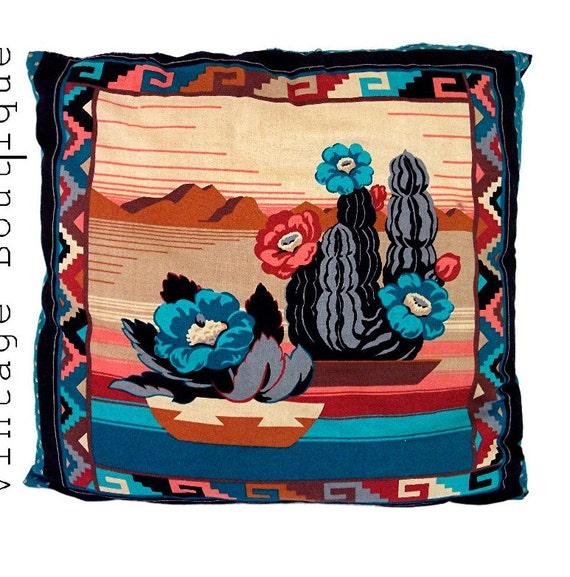 Vintage Southwestern Pillow : Southwestern Vintage Pillow Native American Indian Art Decor