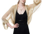 Silk Formal Bolero Jacket FIRST LADY/ Antique Gold Color/ Sizes XS - 4X