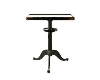 1920s Glass & Iron Table, Antique Optometrists Office Furniture