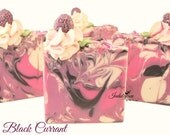 Black Currant Artisan Vegan Soap/Handmade/Cold Process/Gourmet