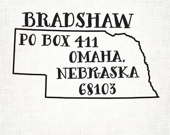 Nebraska Personalized Return Address State Stamp