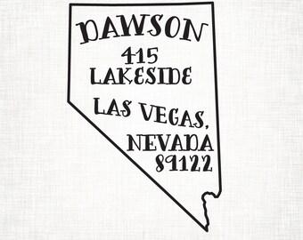 Nevada Personalized Return Address State Stamp