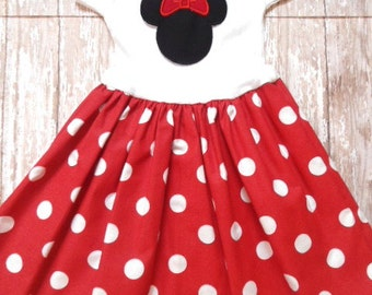 DISNEY DRESS, minnie mouse dress, girls dress, disney vacation, birthday party dress, girls minnie mouse birthday dress, 1st Birthday party