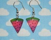 Super Cute Watermelon Slice Earrings