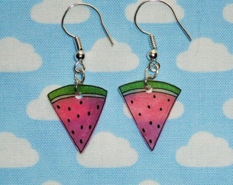 Super Cute Watermelon Slice Earrings