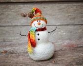 Needle Felted Snowman  632
