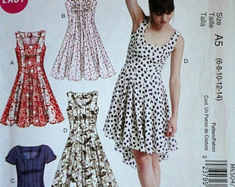 McCall's 6504 Sewing Pattern, Misses' Dress, Sizes 6-8-10-12-14, Uncut Factory Folded, Easy