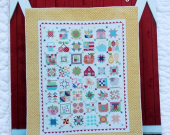 Farm Girl Vintage Book Quilt Pattern Book, Lori Holt, Spiral Bound, Bee in my Bonnet, Retro Quilt Patterns, Scrappy Pattern