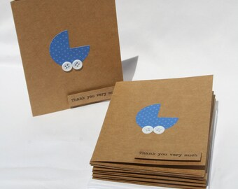 Baby Shower Thank You Cards - Baby Boy Thank You Cards - Thank You Cards - Blue Baby Thank You Cards - Royal Blue Thank you Cards - 50