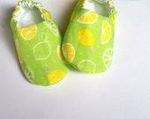 Reversible Baby Shoes, Citrus Scented