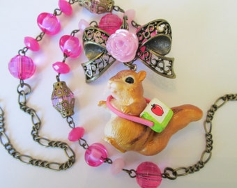Squirrel Kawaii Charm Necklace