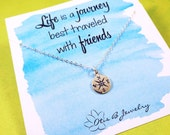 Compass necklace, Best friend gift, compass charm, Friendship necklace, best friend gift, graduation gift, gift for grads, college grad