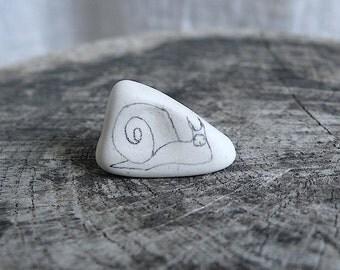 Tiny Beach Pottery Snail