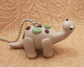 Dinosaur Ceiling Fan Pull Chain - Brontosaurus Fan pull - Childrens Dinosaur Themed Room Decor - Dinosaur Nursery - Polymer Clay
