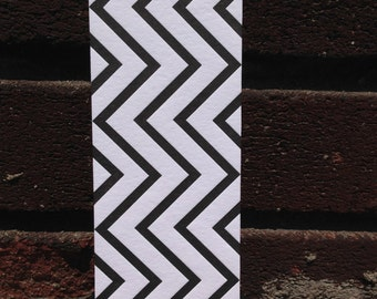 Letterpress Bookmark - Chevron Pattern