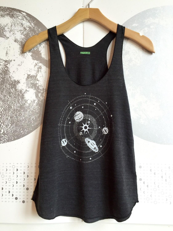 Womens Solar System tank top space shirt astronomy tshirt