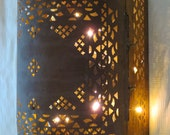 Pierced brass casket sconce - Made to your specifications