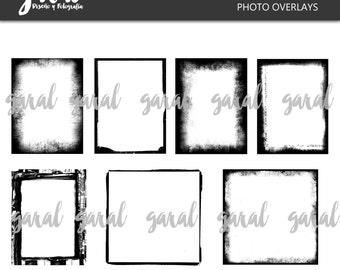 Grunge Frames for Digital Scrapbooking kit 1, photography overlays instant download
