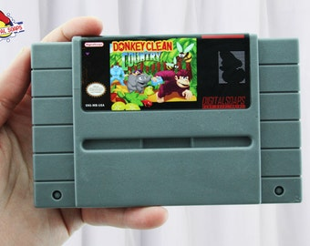 Donkey Kong SNES Parody Soap, Donkey Clean, Energy Citrus Scented, Retro Video Game Geek Gift